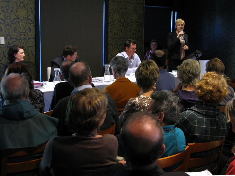 Cate Faehrmann presents the Australian Greens\' policies