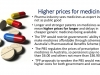 Higher prices for medicines