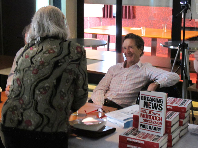 Paul Barry at the book signing (Courtesy of Constant Reader)