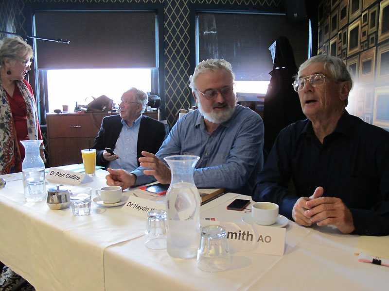 Forum 36 Speakers; Dr Paul Collins, Dr Hadyn Washington & Dick Smith AO